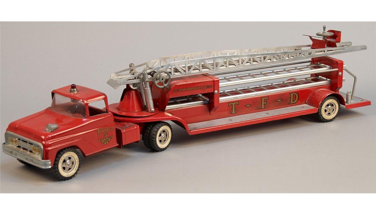 Theme interesting, vintage toy fire trucks
