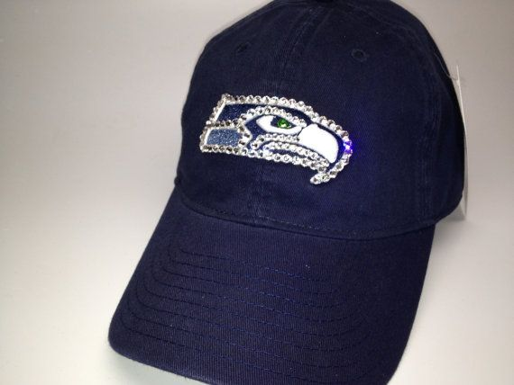 ebcece69d Swarovski crystal bling Seattle Seahawks adjustable by STLSparkle ...