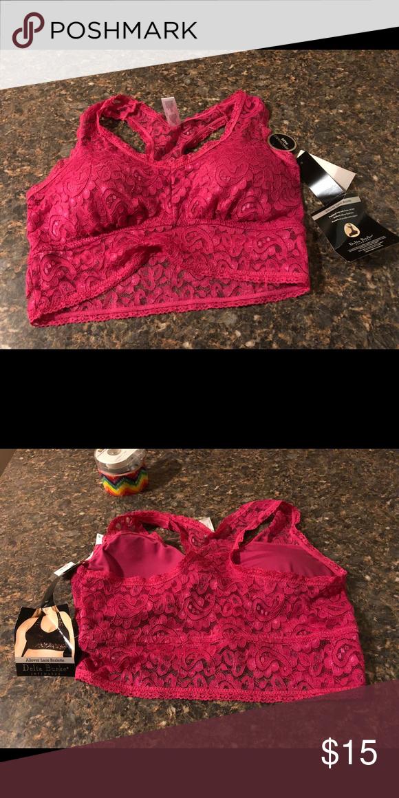 ff095f1970 NWT Delta Burke Bralette 1x Beautiful lacy bralette