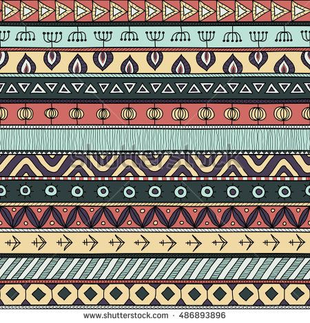 Tribal multicolor seamless pattern. indian or african ethnic patchwork style. Vector image for textile, decorative background, wrapping paper