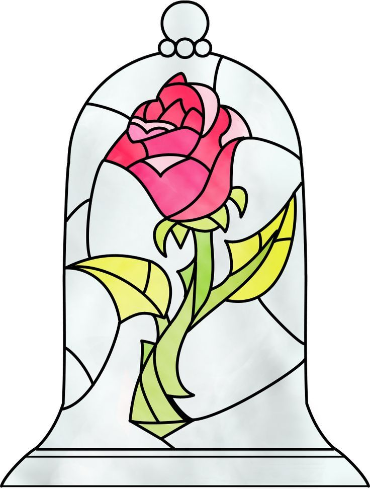 beauty and the beast rose stained glass - Google Search ...