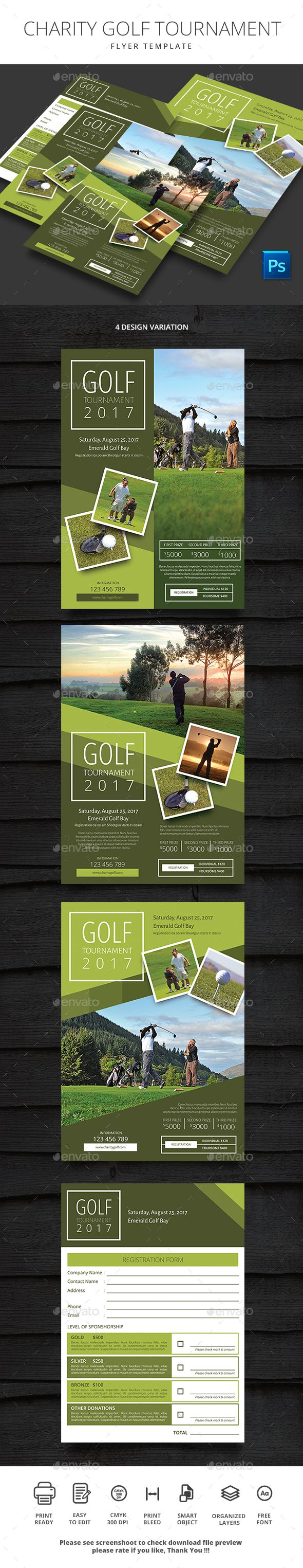 Charity Golf Tournament  Flyer Design Templates Golf And Template