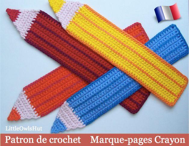 marque pages crayon patron de crochet
