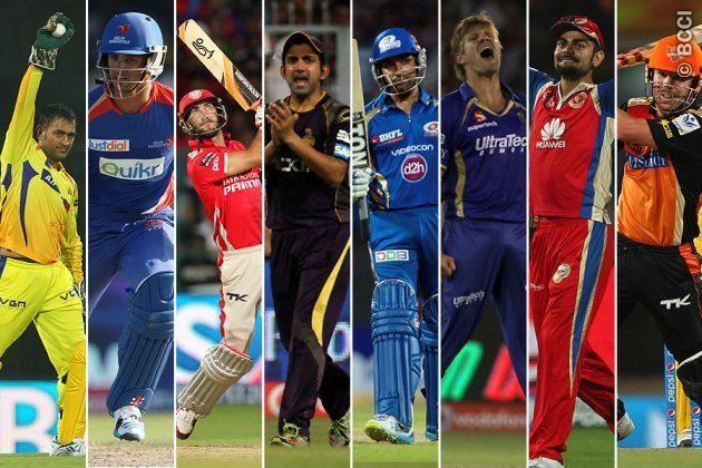 Ipl8 Team Captains Ipl Cricket Games Cricket Games Premier League