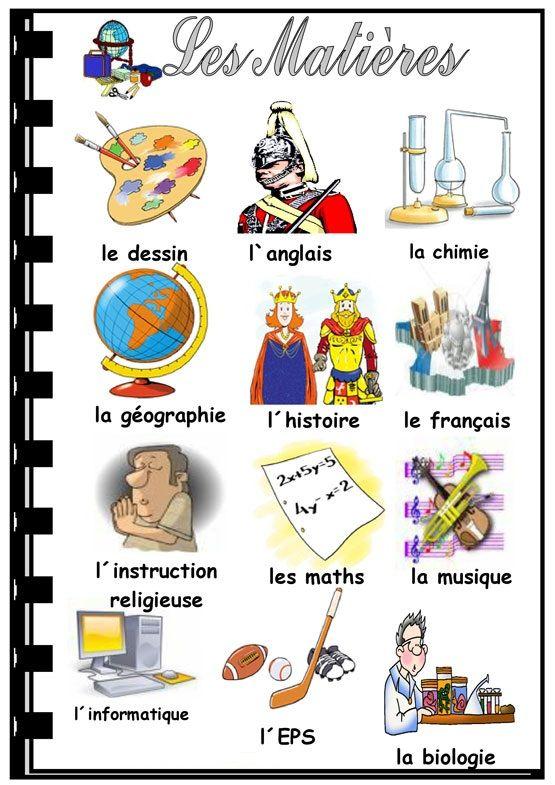 Exceptionnel FLE en ESO: Asignaturas/Matières | Vocabulaire FLE | Pinterest  FX07