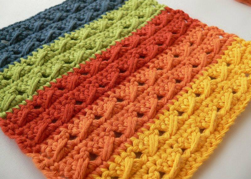 Crochet Cable Stitch Dishcloths Free Pattern | Free Crochet Patterns ...