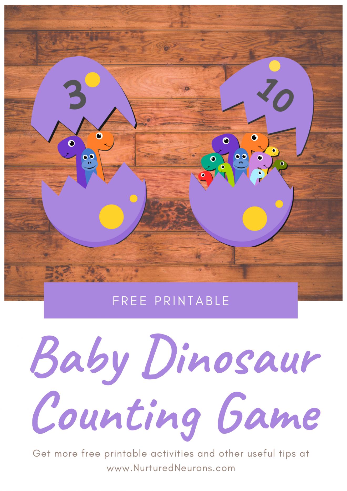 Dinosaur Math Game Free Preschool Printable