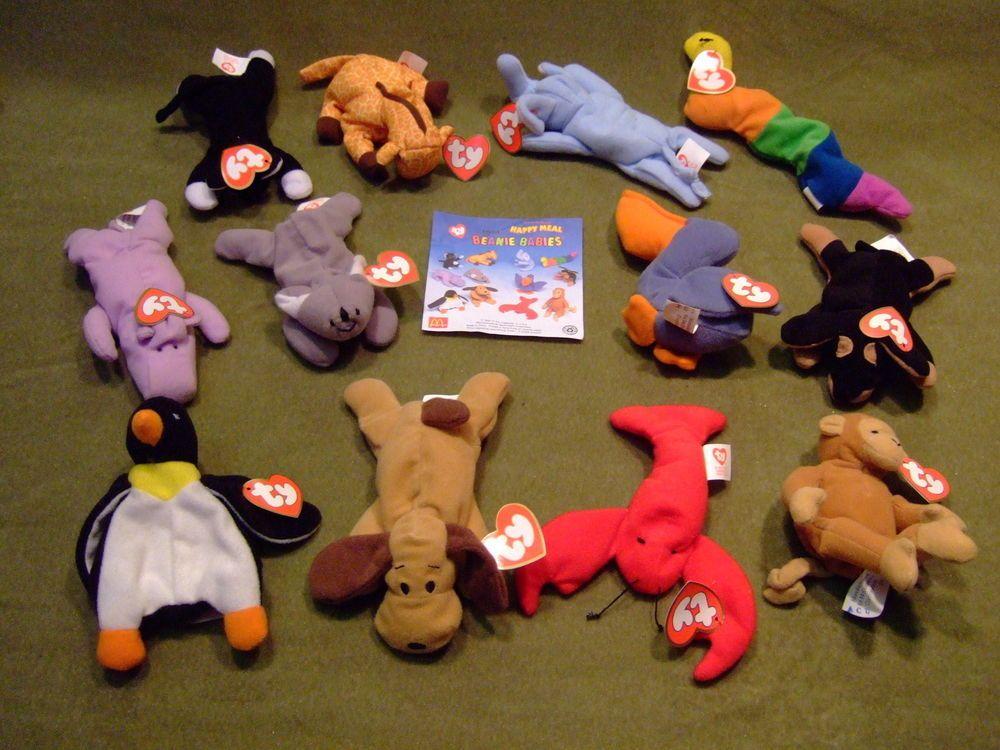 MCDONALDS HAPPY MEAL TOYS BEANIE BABIES COMPLETE SET