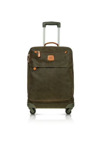 Bric's Life Olive Green Micro Suede Carry on Trolley