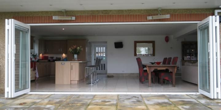 Bi Fold Doors   Complete Open Wall From Outside