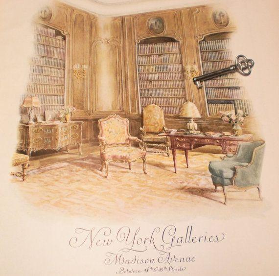30s Vintage Interior Design Ad for Antique Furnishings Magazine ...