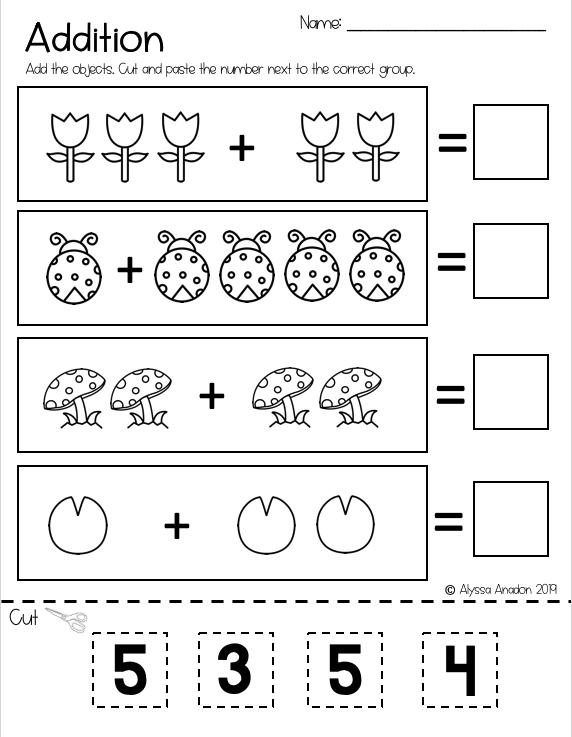 Spring Addition Worksheet Addition Worksheets Spring Worksheet Kids Math Worksheets