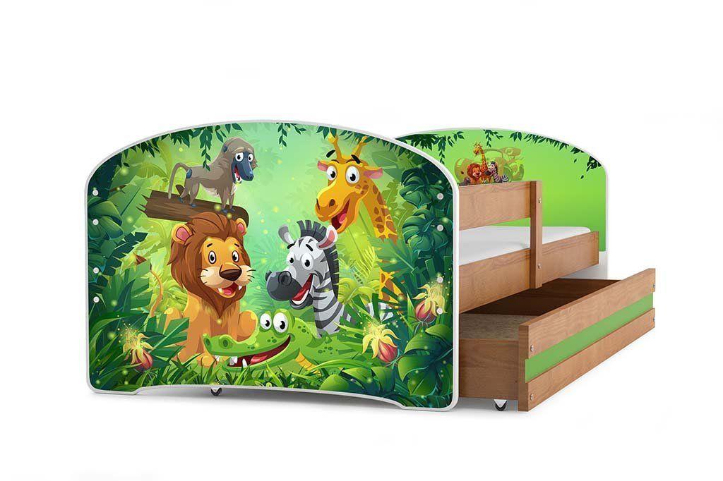 Kinderbett dschungel  Das perfekte Kinderbett für ein Dschungel Kinderzimmer. Bett mit ...