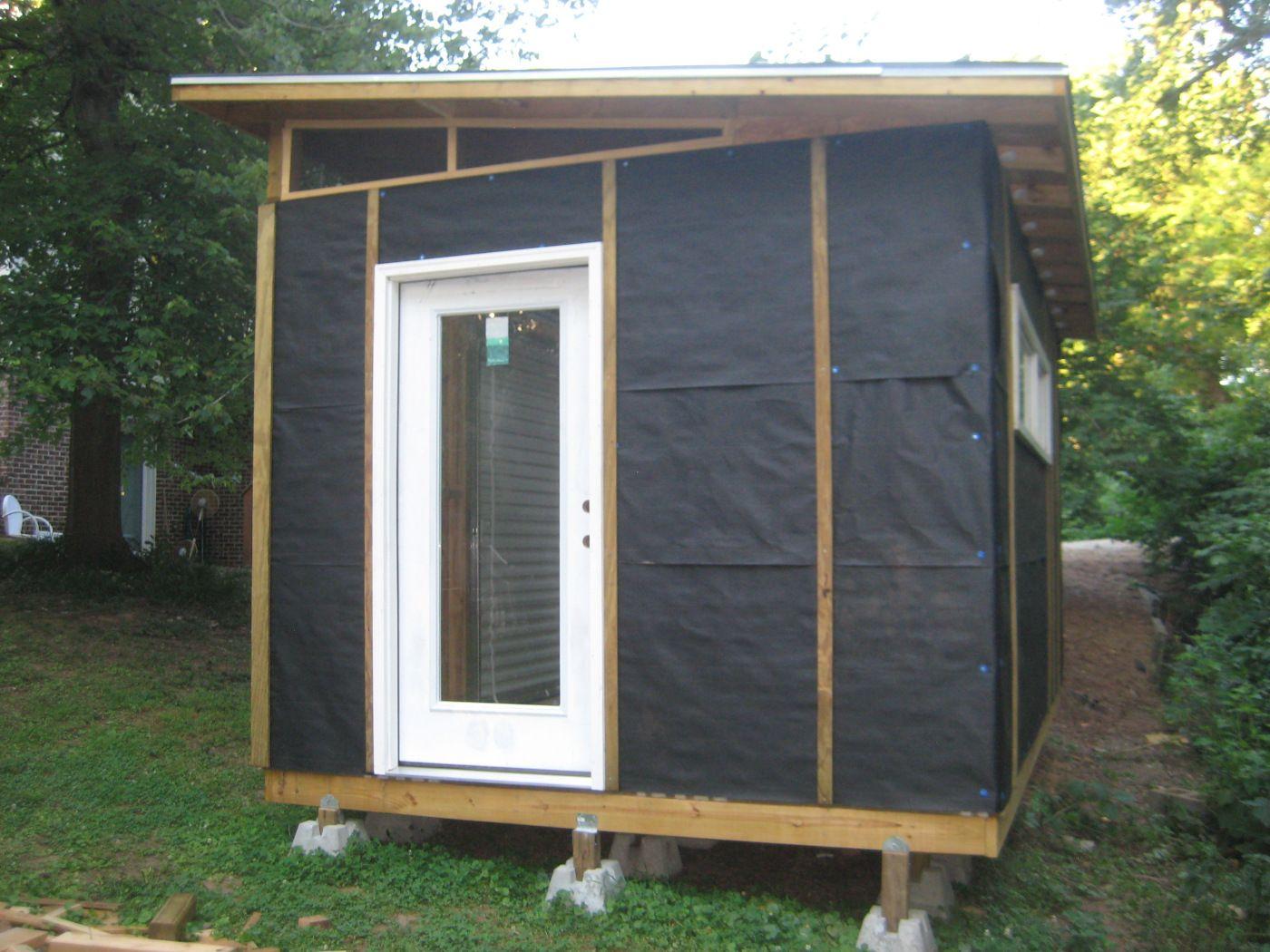 Diy Modern Shed Project Cabane Jardin Cabanon De Jardin Abri Bois