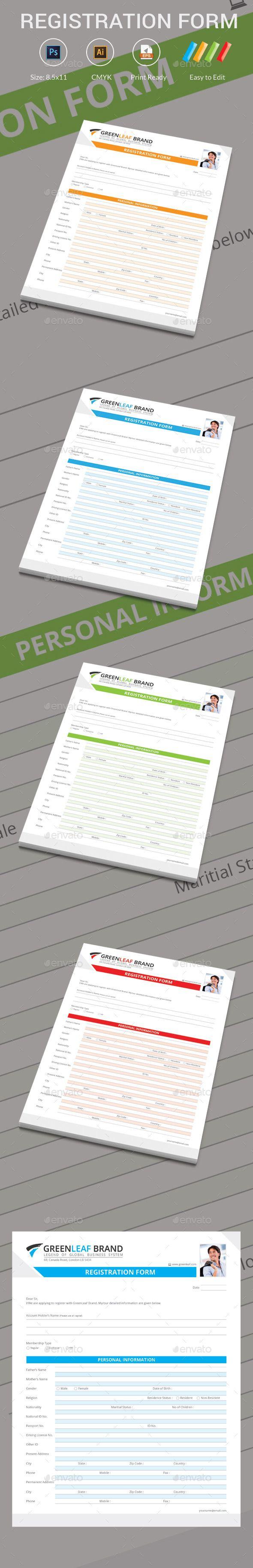 Paper Registration Form Template Registration Form — Photoshop Psd #registration Paper #corporate .