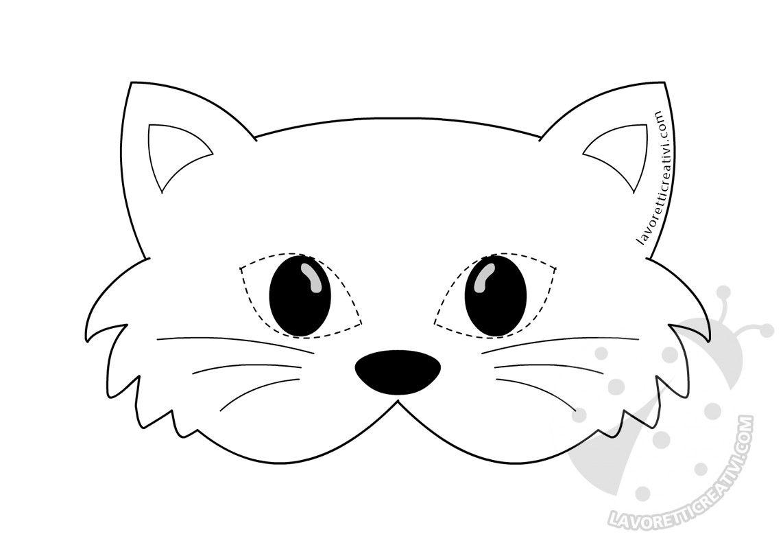 Maschere Di Animali Per Bambini Da Stampare E Ritagliare Festa A Tema Gatti Animali Addobbi Di Carnevale