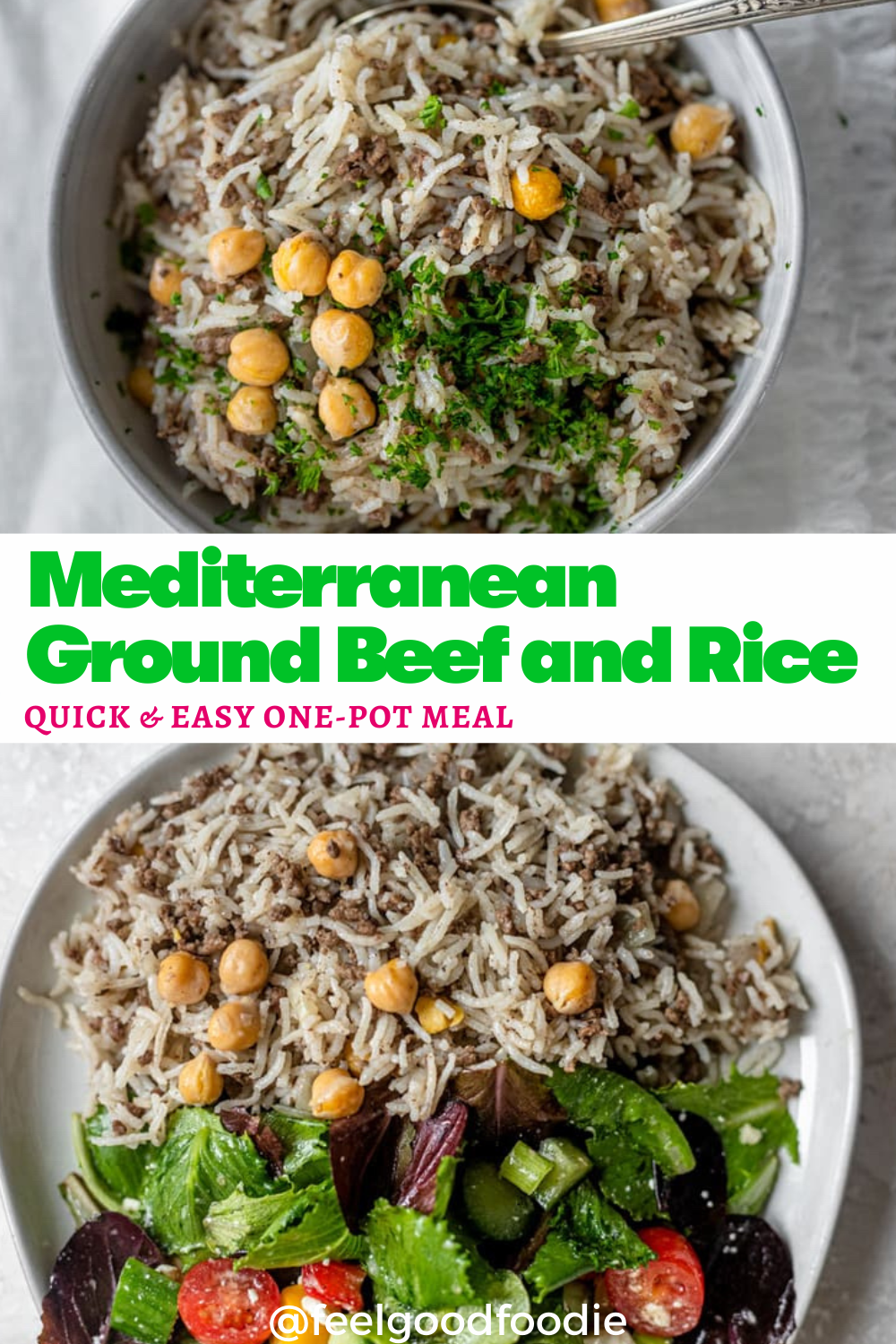 Mediterranean Ground Beef And Rice Recipe In 2020 Chicken And Beef Recipe Beef And Rice Recipes