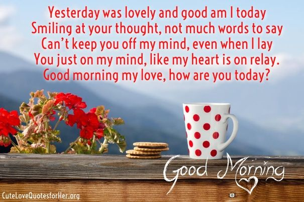 Romantic Good Morning Poems Cute Love Poems For Her Him Love