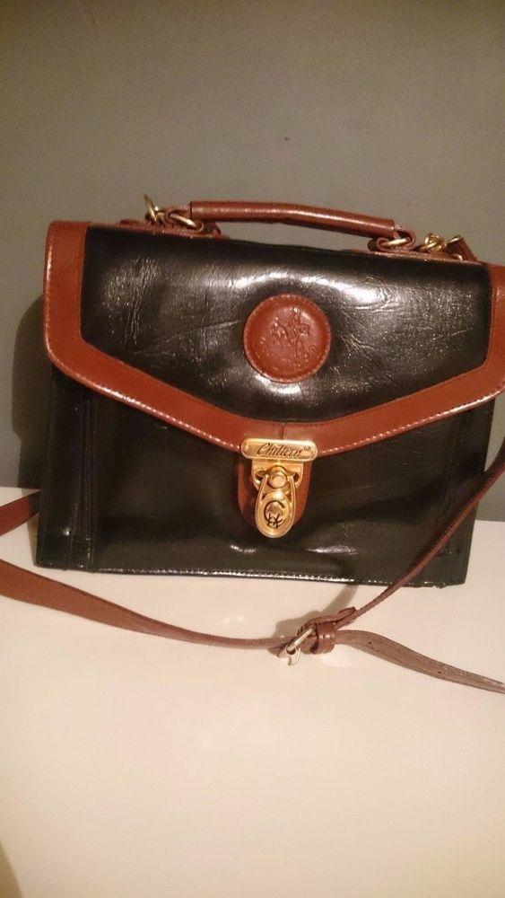 Chiltern Marchino Tan Black Satchel Bag