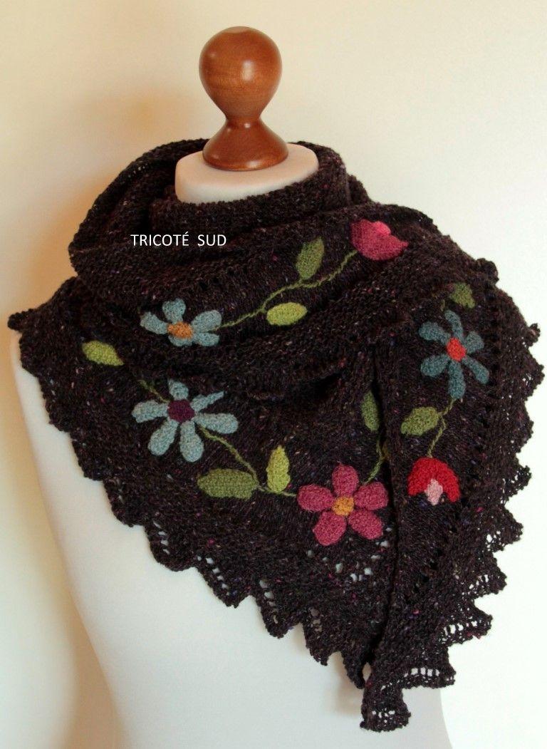 Kit châle Flora - Kits tricot Kits tricot femme - Tricoté Sud ... e874c56b1da