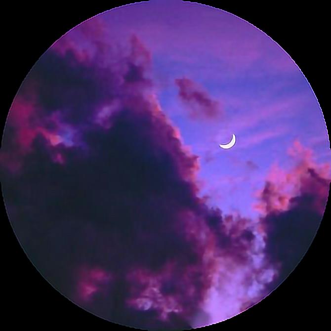 Tumblr Aesthetic Pastel Space Stars Moon Dark Clouds