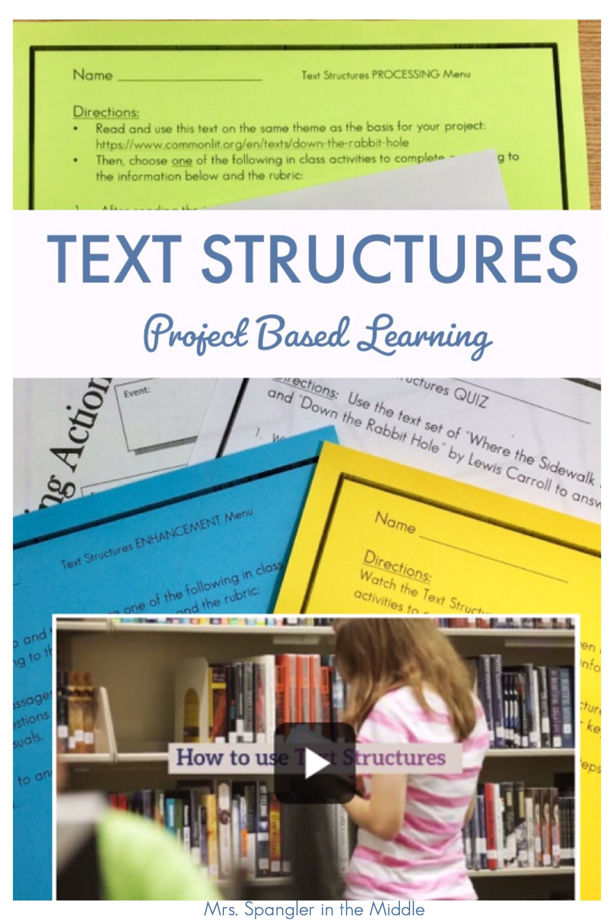 Help Your Middle School Students Practice What They Know About R Ccr 5 Analyze Th Text Structure Project Based Learning Differentiated Instruction Strategies