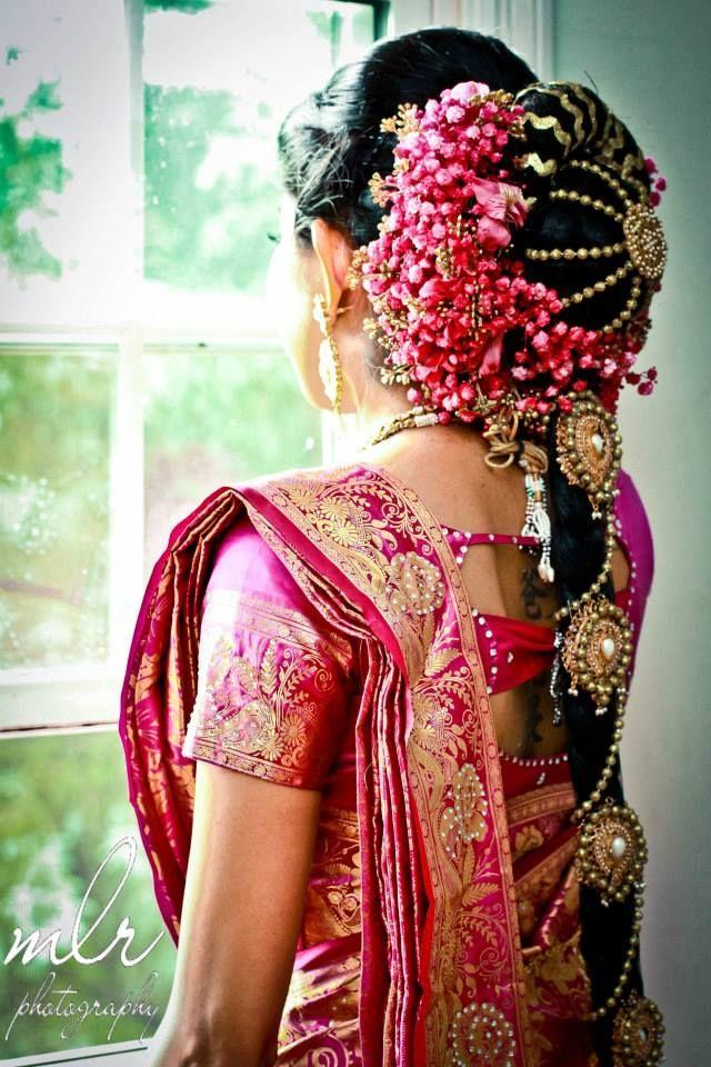 An Ellaborate South Indian Bridal Hair Do