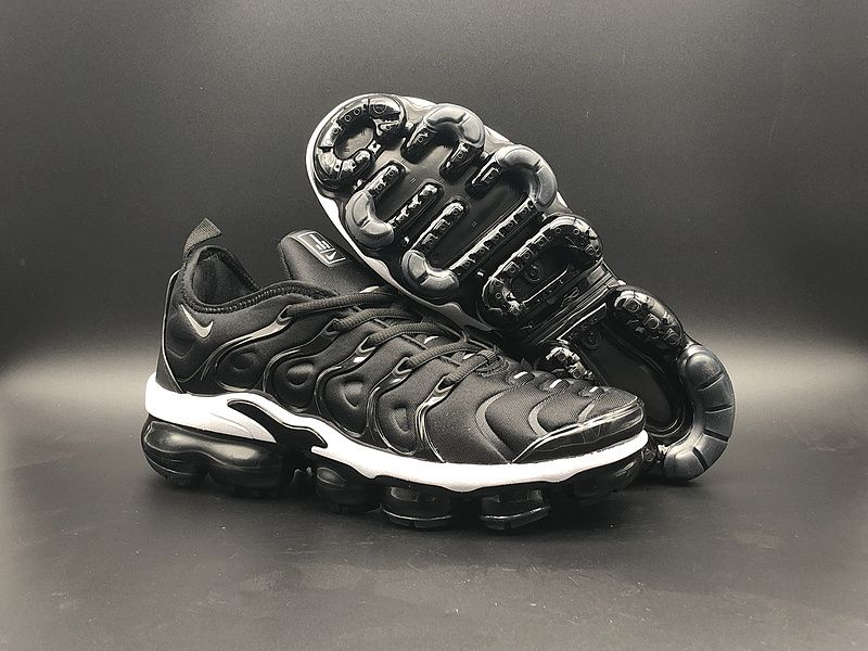 size 40 d283c 2f722 High Quality Men Nike Air VaporMax Plus TN Core Black White ...