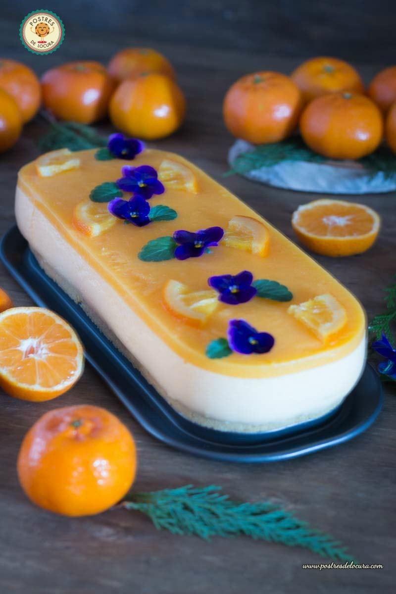 Tarta mousse de mandarina postre facil para nochevieja - Postres faciles para nochevieja ...