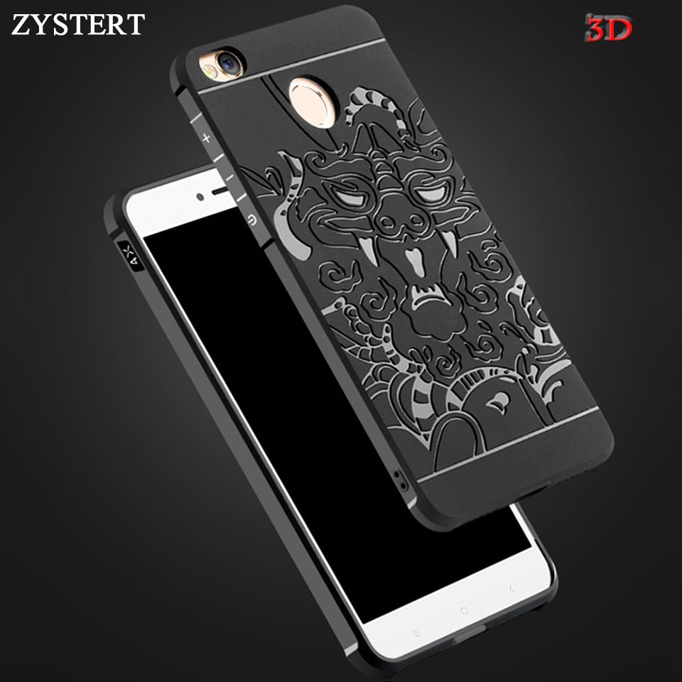 Zystert 3d Carved Dragon Armor Shockproof Soft Silicone Case For Xiaomi Redmi Note 4x 4 3 Pro 3s Phone Case Back Cover Protector Phone Shell Phone Phone Cases