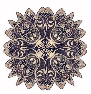 ArtbyJean - Images of Lace: Beige and Brown Lace Doilies or Doylies. - clip ar...