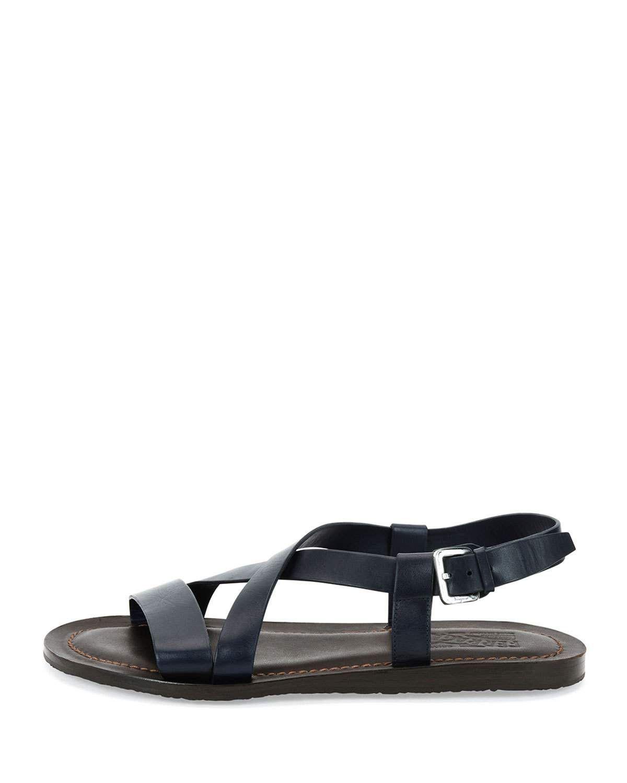 22db15cce90a Salvatore Ferragamo Crisscross-Strap Calfskin Sandal