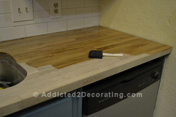 how i stained sealed my butcher block countertops diy countertops stains and butcher block. Black Bedroom Furniture Sets. Home Design Ideas