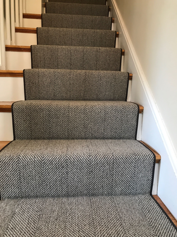 Prestige Mills Braylon Color Gunmetal Stair Runner Carpet Carpet Stairs Stair Runner