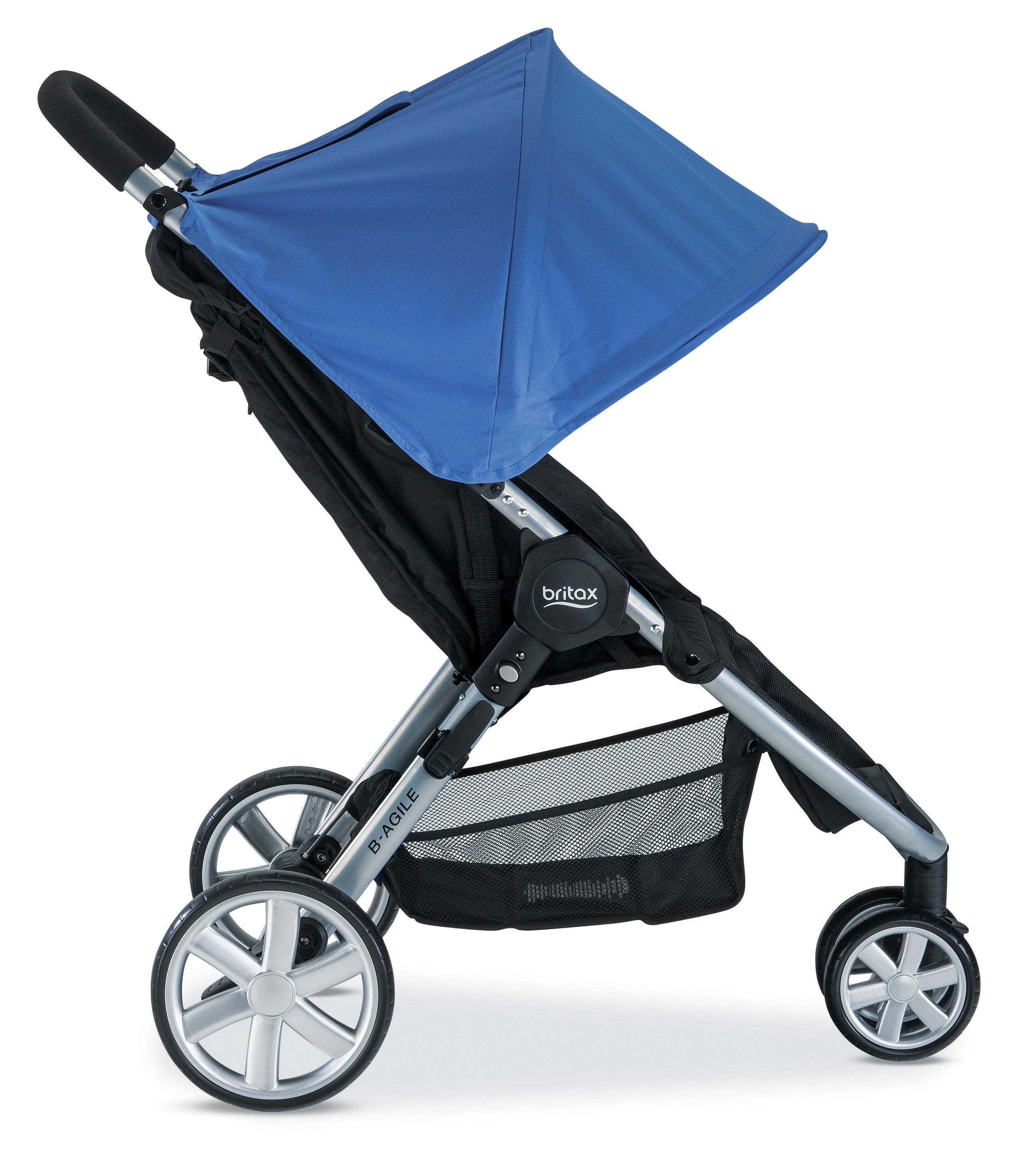Britax BAgile 3 Shower Collection, Sapphire. Available in