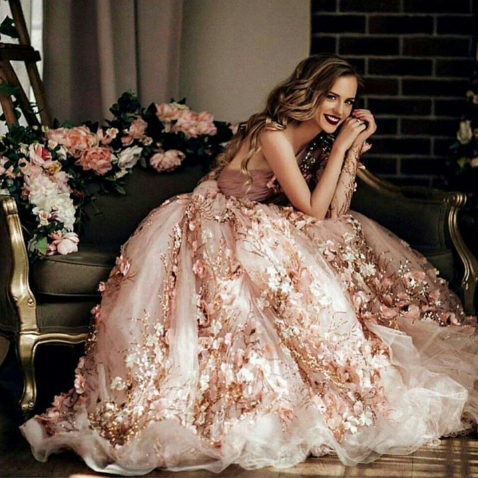 Pin by Arbassa =^~^= on Dress up✨  Colored wedding dress, Gowns