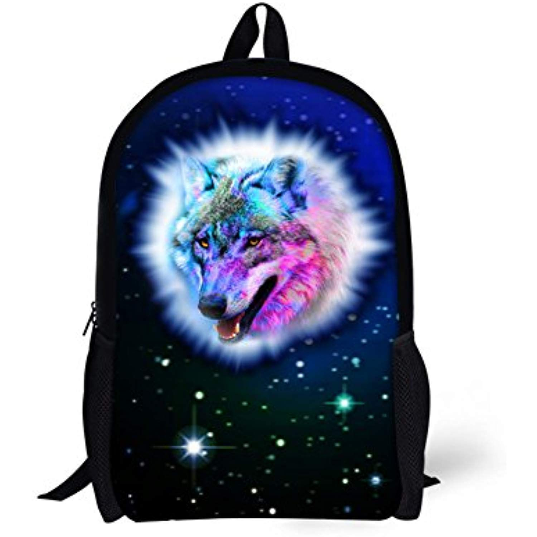 ad757d455fb Galaxy Wolf Children School Book Bag Kids Printing Backpacks * Read ...