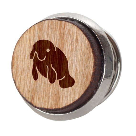 Engraved Tie Tack Gift Koala Stylish Cherry Wood Tie Tack 12Mm Simple Tie Clip with Laser Engraved Design