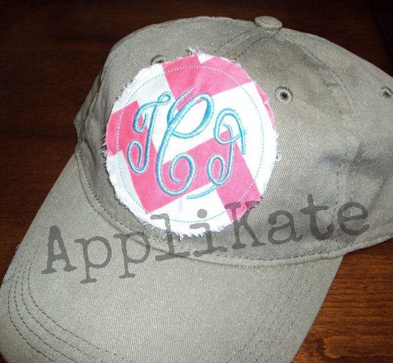 Preppy Monogrammed Personalized Baseball Cap