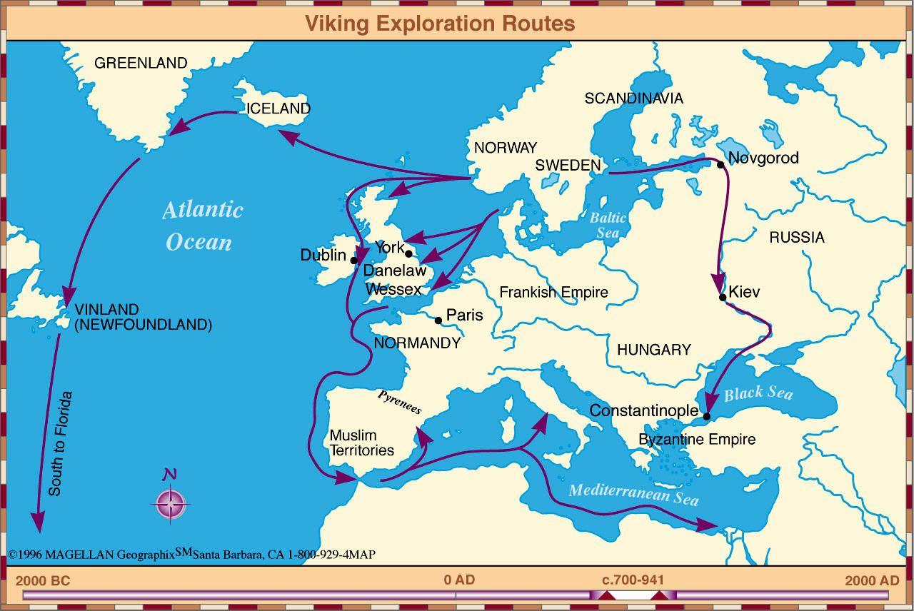 Vikings Map Of Exploration Viking Exploration Routes, 700 – 941 AD | Maps | Vikings, Map
