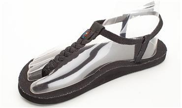 a7249a925672 T-Street - Hemp Single Layer Black Center Braid w Ankle Strap Rainbow  Sandals