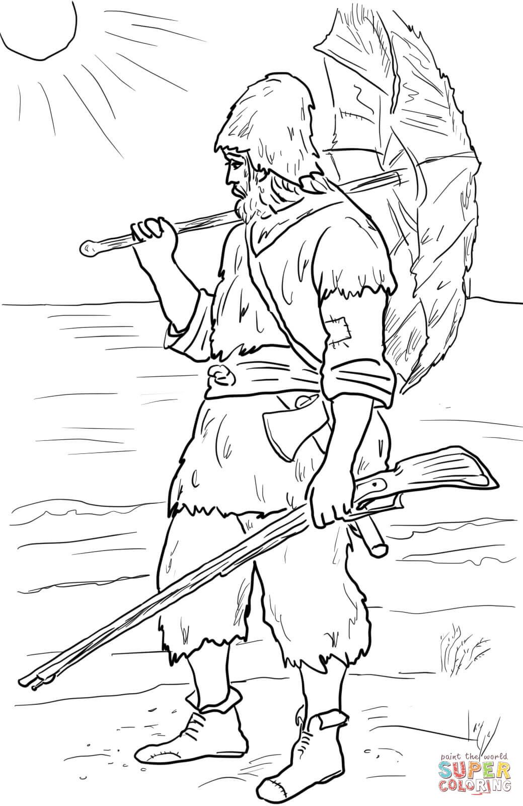 Robinson Crusoe Super Coloring Coloring Pages Robinson Crusoe