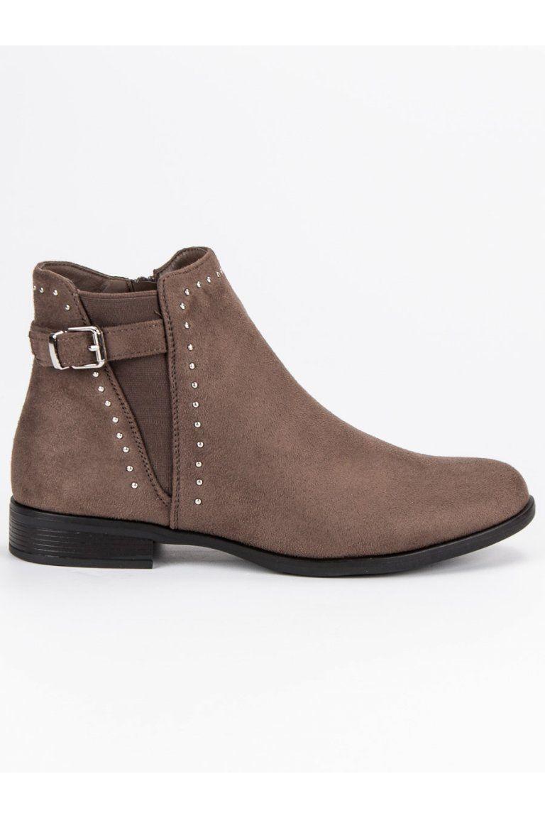 Nízke béžové topánky na jeseň Super Me  21d500d558c