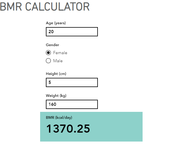The Following Bmr Calculator Will Evaluate Your Basal Metabolic Rate Based On You Age Weight Height And Gender Your Bmr Calculator Basal Metabolic Rate Bmr
