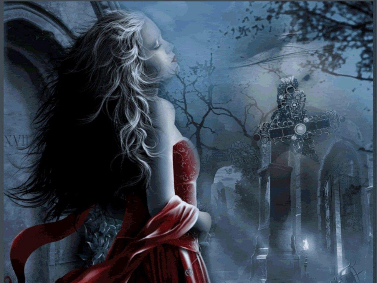 Gothic Fantasy Wallpaper Free Download Готическая