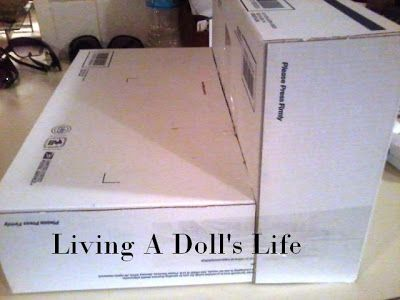"""Living A Doll's Life : How To Make - Easy 18"""" Doll Sofa!!"""