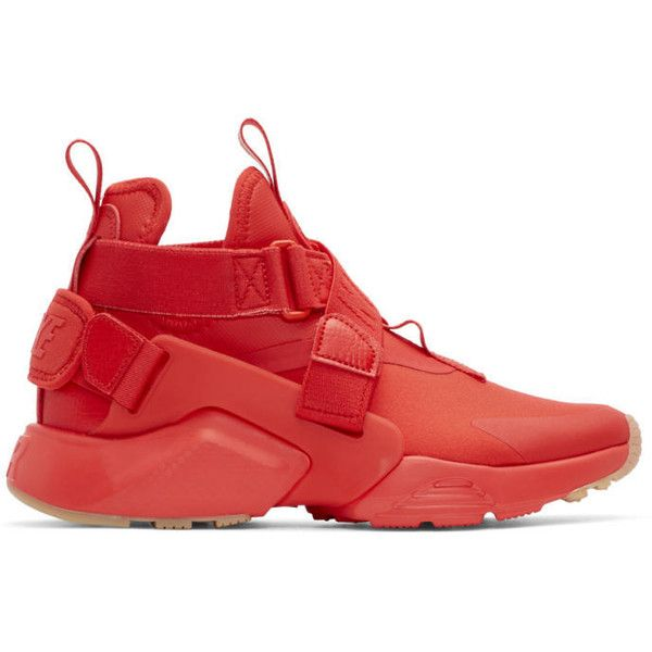 50eb5bd18a2 Nike Red Air Huarache City Sneakers ( 150) ❤ liked on Polyvore featuring  shoes