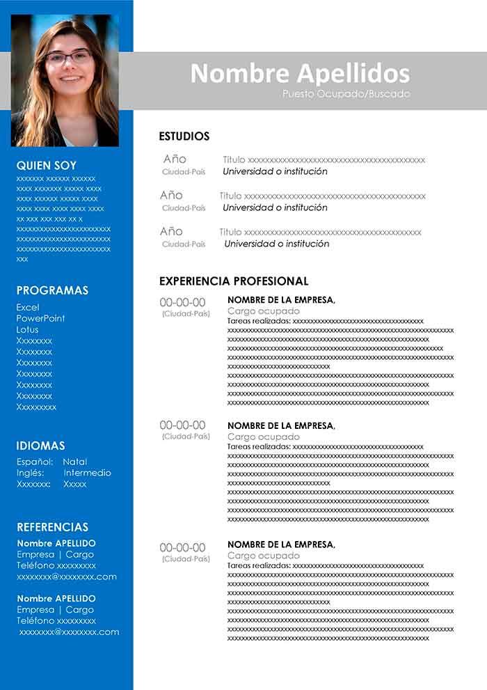 Curriculum Vitae Para Descargar Y Editar Cv Gratis Ejemplos De Curriculum Vitae Descargar Curriculum Vitae Curriculum Vitae