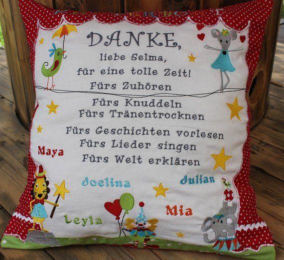 Photo of Farewell pillow, kindergarten, day mum, circus, 40×40