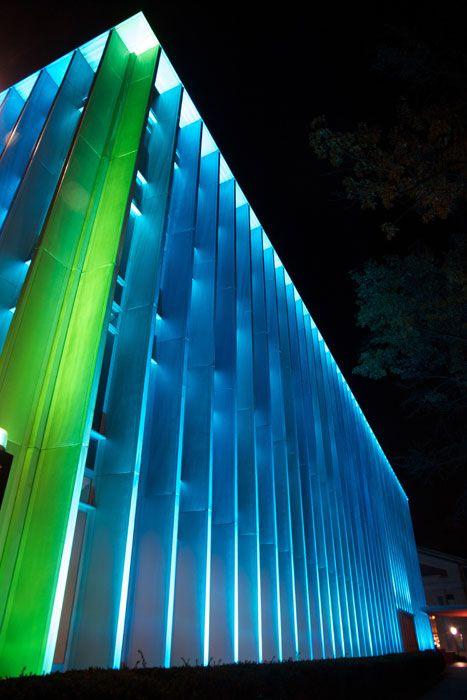 Exterior Facade RGB Light Facade Lighting, Lighting Design, Light  Architecture, Architecture Design,